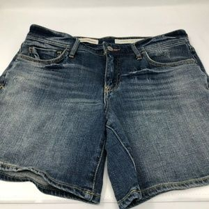 Pilcro and the letterpress hyphen denim shorts 27
